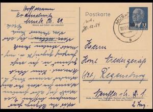 AFS Bochum 10.12.47 - 6 Pfennig Drucksache Marken-Behrens nach Nürnberg