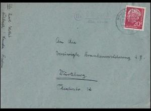 4 Brustschild als EF Brief Rahmenstempel HEINRICHSWALDE 10.3.72 nach Königsberg