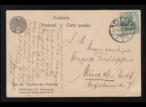 DEUTSCHE MARINE-SCHIFFSPOST No 49 Palatia 26.7.1901 Ceylon