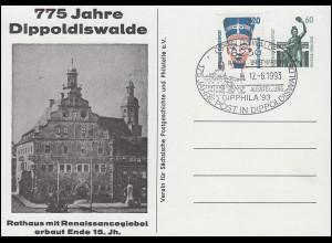 Privatpostkarte PP 151 775 Jahre Dippoldiswalde SSt DIPPOLDISWALDE 12.6.93