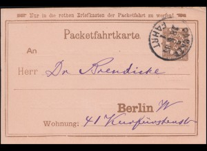 Privatpost Berliner-Packetfahrtkarte 2 Pfennig PACKET-FAHRT 1. - 28.5.1895