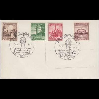 665-668 Turn- und Sportfest Beslau - Satz auf AK 700 Jahre Berlin SSt 2.7.1938
