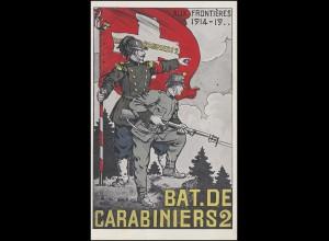 Propaganda Schweizer Feldpost BAT. DE CARABINIERS 2 - Campagne 7.3.18