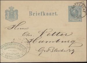 Niederlande Postkarte Briefkaart P 9 König Wilhelm 5 C. ROTTERDAM 31.5.78