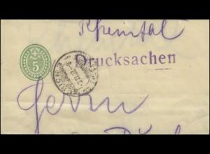 Schweiz Streifband S 17 als Drucksache von ZÜRICH 9.11.07 nach Buchs/Rheintal