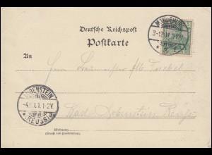55 Germania EF auf Ansichtskarte Zwei Transvaal-Buren, MAGDEBURG 3.12.1901