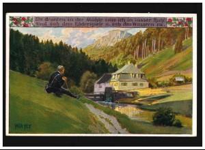 Farb-AK Kaisers Geburtstag 23. Januar 1900, BERLIN 26.1.00 nach RAMBIN 27.1.99