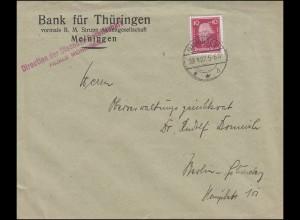 390 Friedrich der Große EF Bf. Bank für Thüringen MEININGEN 29.1.27 nach Berlin