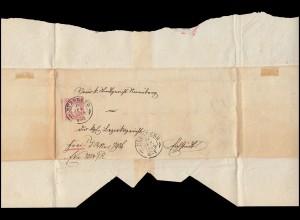 Bayern 15 Wappen überbreite 3 Kr Brief NÜRNBERG 17.6.69 nach Eichstädt/Eichstätt