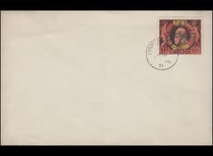 93A Regentschaftsjubiläum 10 Pf. auf Blanko-FDC LUDWIGSHAFEN 10.6.1911