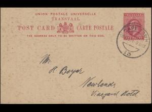 Südafrika / Transvaal Postkarte 1 Penny König Eduard VII. CAPE TOWN 28.2.1914