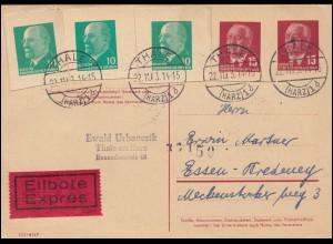 DDR-Berlin-MiF auf Eil-R-Brief SSt BERLIN Biologische Antarktisforschung 14.8.90