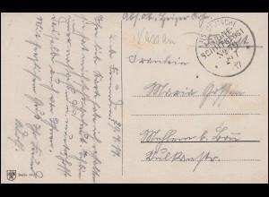 DEUTSCHE MARINE-SCHIFFSPOST No 79 - 29.7.1917 SMS Nassau auf Glückwunschkarte