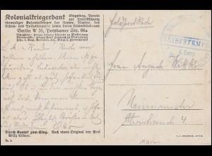 Marinefeldpost BS Kaiserliche Marine 4. Komp. I. Werft-Division, Propaganda-AK