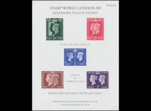Großbritannien: Essays for the 1940 Centenary Issue - STAMP WORLD LONDON 1990