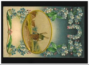 Luxemburg Bildpostkarte P 60 Echternach, ESCH sur ALZETTE 21.1.1929