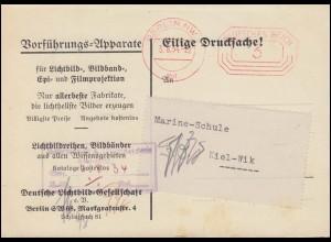 AFS Berlin NW 3 Pfennig 3.8.34 auf Drucksache-Werbedoppelkarte Vorführgeräte
