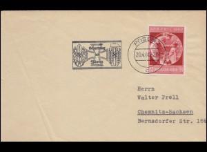 532 Jugend Pelztiere Rotfuchs EF auf Fern-Brief WERMELSKIRCHEN 29.4.67