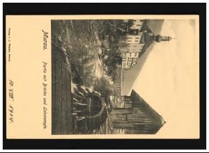 Zensur 8 AM-Post 15 Pf. auf Postkarte DUISBURG-MEIDERICH 11.6.1946