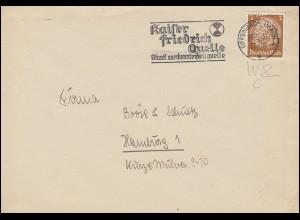 Firmenlochung W&C Hindenburg 3 Pf als EF auf Drucksache OFFENBACH/MAIN 29.12.39