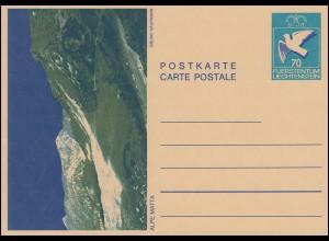 Liechtenstein Bildpostkarte P 83 Alpe Matte / Bruno Kaufmann, ungebraucht **