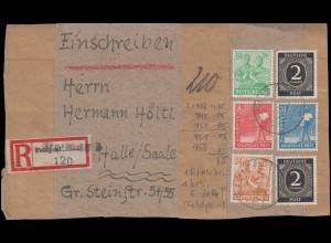Dienst 64+72 Landschaften Orts-R-Brief Hauptzollamt ZÜRICH-AUSSERSIHL 5.12.1953