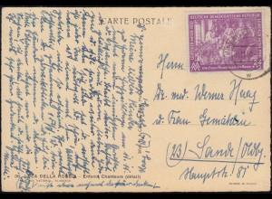 248 Messe Leipzig 24 Pfennig auf AK Luci Della Robbia, GÖRLITZ 9.11.1950