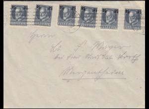 111A Ludwig-Aufdruck als MeF auf Brief WÜRZBURG 21.12.1916