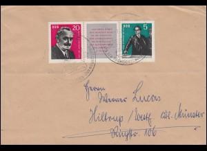 893-894 Dimitrow-Zusammendruck W Zd 31 auf Brief SSt KÖLLEDA 7.12.1962
