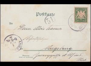 Letzte Briefkastenleerung Mischfrankatur mit DDR Eil-Brief BERLIN 3.10.1990