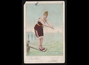42ff Berliner Bauten-Frankatur auf Lp.-Brief SSt BERLIN Ausstellung 14.10.1951