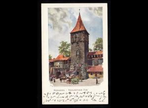 Scherenschnitt-AK Auf dem Drahtseil - Akrobatik Zirkus, BRAUNSCHWEIG 31.12.1911