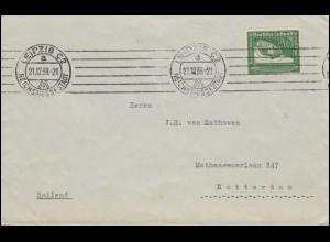670 Graf von Zeppelin 50 Pf. auf Auslandsbrief LEIPZIG REICHSMESSESTADT 21.12.38