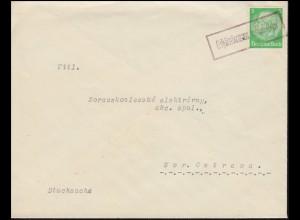 Landpost Schönbrunn (heute Tschechien) auf Drucks. Hindenburg nach Mor. Ostrava