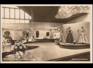 155 Schurz auf AK Industrieausstellung Bekleidung passender SSt BERLIN 25.9.1952