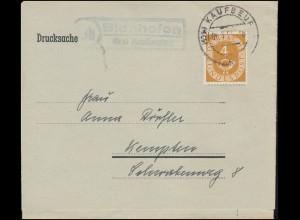 Landpost-Stempel Linda über Neustadt (Orla) auf Brief SSt NEUSTADT 27.4.1939