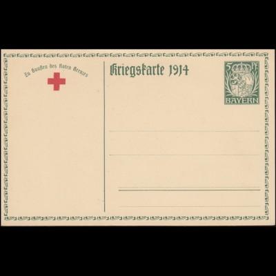 Bayern Postkarte P 94/02 König Ludwig III. von Bayern, ungebraucht **