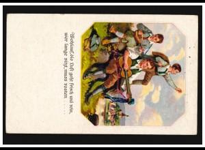 Ansichtskarte Kinder beim Musizieren und Singen Gitarre Laute NIEDERAU 1924