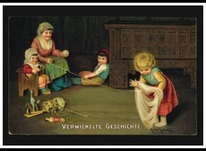 Herman Kaulbuch Wolleaufrollen: Verwickelte Geschichte, DRESDEN 23.11.12