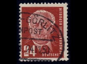 252II Pieck 24 Pf, mit PLF II eckige 2, gestempelt Bahnpost, Befund Paul BPP