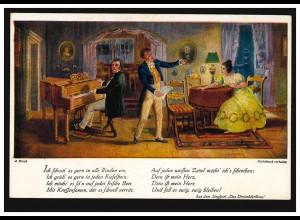 Liebes-AK Singspiel Das Dreimäderlhaus: Singen mit Klavier, ungebraucht