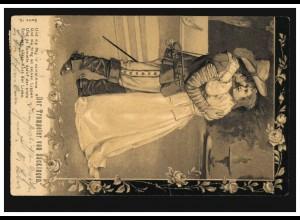 Liebes-AK Liebespaar: Der Trompeter von Säckingen, LEIPZIG 7.7.1903