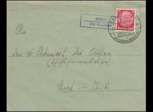 Landpost Wistedt über SALZWEDEL auf Fernbrief SSt SALZWEDEL Baumkuchen 2.3.1937