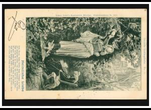 AK A. Zick: Heimliche Liebe, Gedicht Kein Feuer, keine Kohle ..., INNSBRUCK 1900