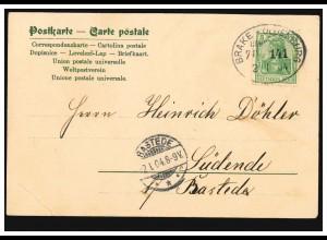 AK Engel mit Maiglöckchen Segenswusch Psalm 92.2., Bahnpost BRAKE-OLDENBEUG 1904