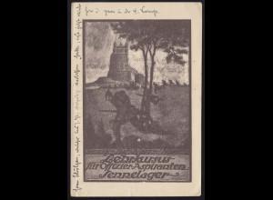 AK Lehrkursus für Offiziers-Aspiranten Sennelager / Paderborn 2.8.1917