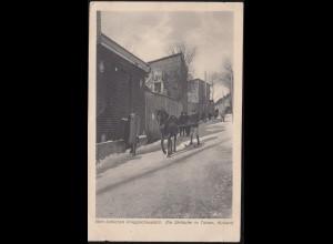 AK Ein Skiläufer in Talsen / Kurland, Feldpost BS Landwehr-Inf.-Regt. 25.8.1916