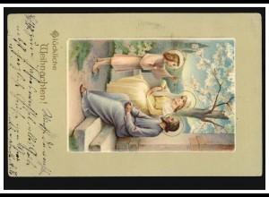 Prägekarte Weihnachten Drei Heilige - Der Schwur, NÜRNBERG 30.12.1912