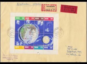 Liechtenstein 797-798 LIBA-Kleinbögen-Satz auf 2 Schmuck-R-Briefen je SSt 1982