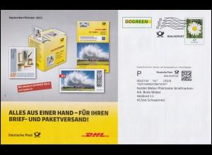 1287-1289 Demokratie Gebäude: ZD aus Block 20 mit 1287 Orts-R-Brief Köln 10.3.87